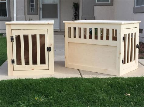 ana white pair  wood pet kennels diy projects