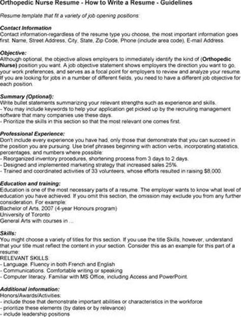 Pacu Rn Description For Resume by Pacu Resume Objective