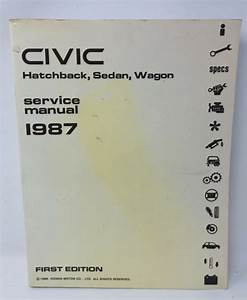 Oem 1987 Honda Civic Factory Service Shop Repair Manual