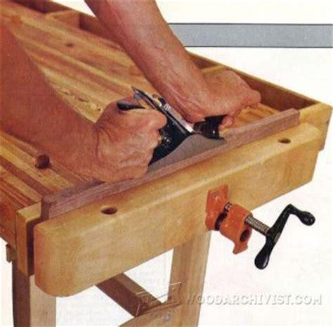 diy bench vise woodarchivist