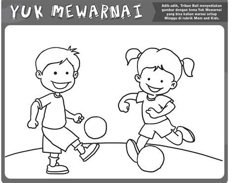 Buy Mewarnai Gambar Anak Anak Mewarnai Bermain Bola Print