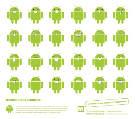 android smileys a tribute to android emoticons by mobiusu on deviantart