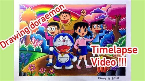 timelapse video drawing doraemon  friends youtube