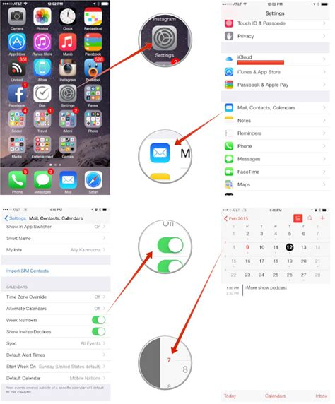 how to calendars on iphone how to enable week numbers in calendar for iphone and