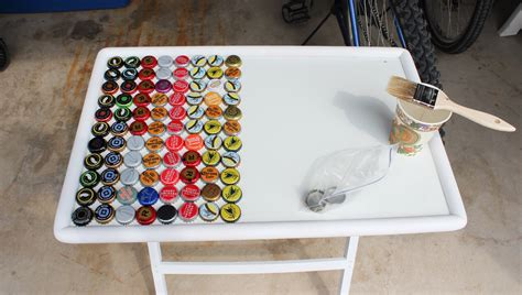beer cap table epoxy beer bottle cap table touch of tay