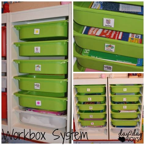Our School Room With A Workbox System In Place Preschool