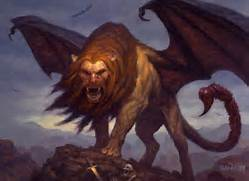 Litleo Manticore Part of its tail is  hooked   litleo will evolve i     Litleo Manticore