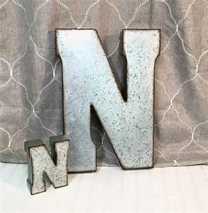 19 best large galvanized letters images on pinterest With large aluminum wall letters