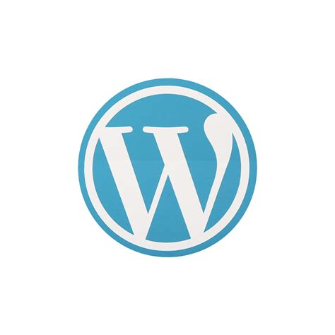 Wordpress Round Sticker