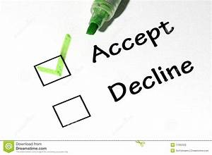 Accept Decline Stock Photos  Image 17092323
