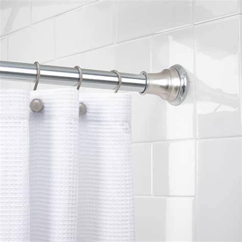 Loaded Curtain Rod Walmart by Zenith Products 72 Quot Tension Twisttight Shower Rod Chrome