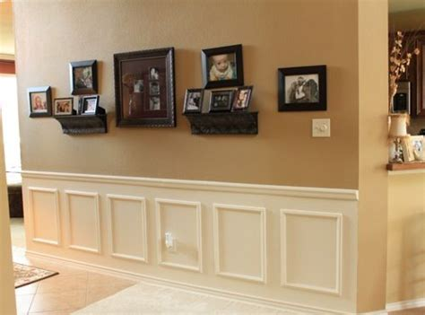 Diy Wainscoting Use Wooden Appliques (chair Rail And