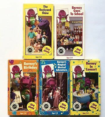 Barney And The Backyard Vhs by Barney The Backyard Vhs Lot Backyard Show Goes To