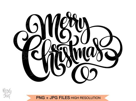 Looking for a cute way to wrap up a gift card? Merry Christmas SVG files for Cricut, Merry Christmas hand ...