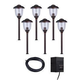 portfolio 6 light bronze low voltage incandescent path
