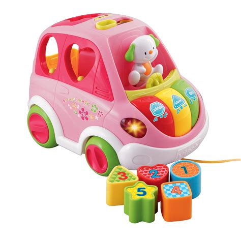 baby bureau vtech vtech baby sort and learn car pink 17 00 hamleys for
