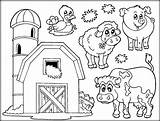 Farm Coloring Animals Printable Animal Getdrawings sketch template