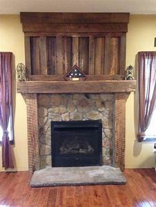 barnwood mantel from reclaimed barn wood timbers veneer With barnwood mantel ideas