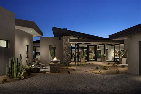 adobe house plans with courtyard project feature contemporary desert mountain estate phx