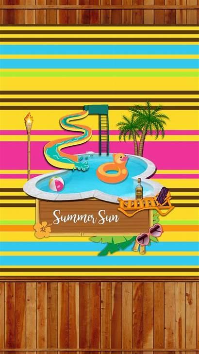 Summer Tropical Fun Backgrounds Phone Wallpapers Summertime