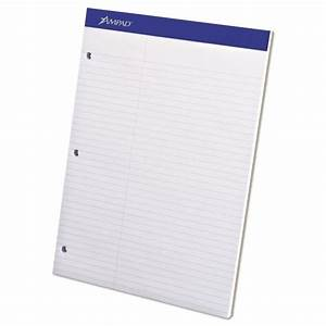 ampad dual letter size white legal pad officesupplycom With letter size legal pads