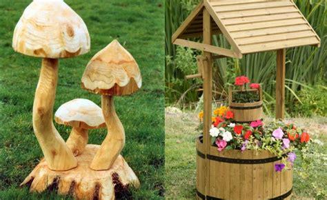 wooden garden ornaments 15 beautiful ideas houz buzz