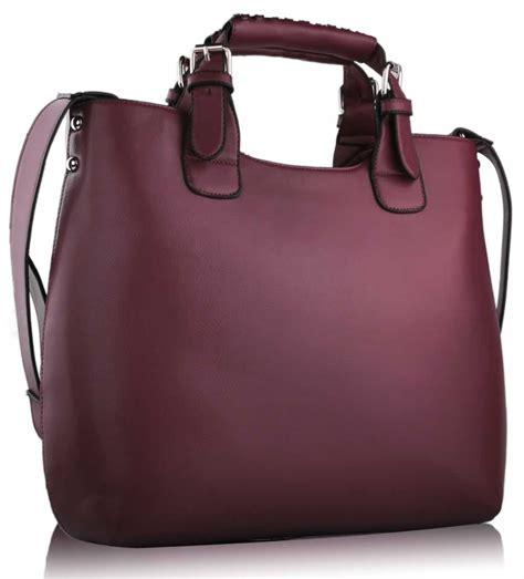 burgundy designer handbags womens burgundy large tote shoulder bag faux