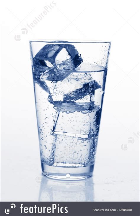 beverages glass  water  ice stock image