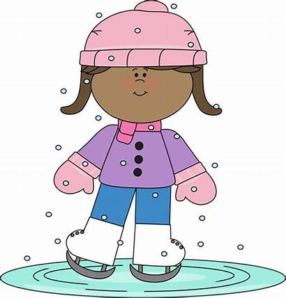 Winter Clipart Skating Ice Clip Warm Falling