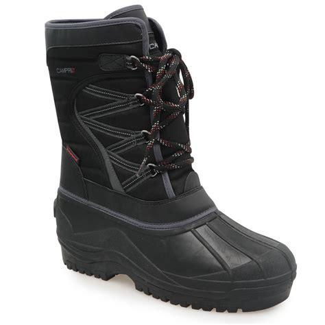 sports ski boots cri snow boots mens skiing snowboarding winter sports black