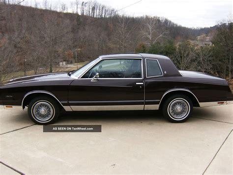 1985 Chevrolet Monte Carlo Chevy Monte Carlo