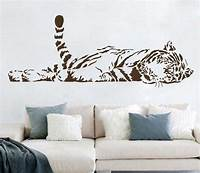 great tiger wall decals Animal Wall Stickers Decoration Cute Tiger Sofa Glass Cabnet Stickers Home Decal Decor A0208 100 ...