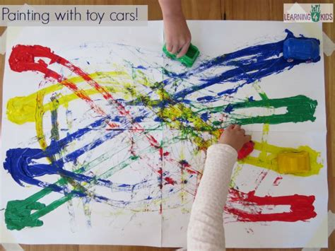 colour match cars painting learning 4 kids