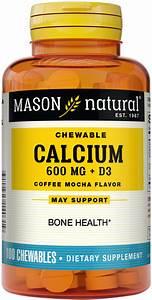 Chewable Calcium 600 Plus D3 100 Chewables