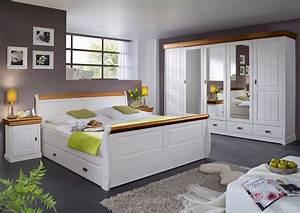 Schlafzimmer Weiß Landhaus : roman komplett schlafzimmer kiefer weiss honig ohne bettkasten ~ Sanjose-hotels-ca.com Haus und Dekorationen
