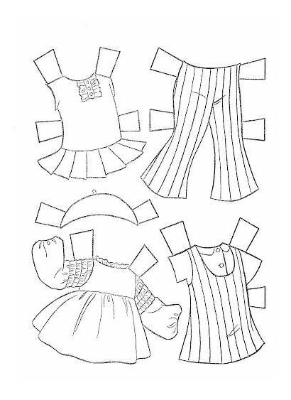 Paper Doll Coloring Dolls Tenderlove Missy Miss