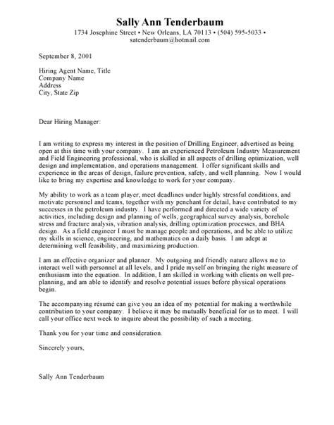 sle cover letter for resume engineering sle