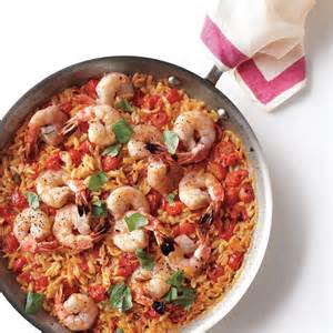 orzo cooking time skillet shrimp and orzo recipe from everyday food may 2012