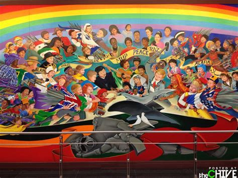 Denver Airport Conspiracy Murals by Denver International Airport Bunker Are The Murals A