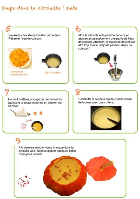 cuisiner un potiron recettes illustrées pour maternelle soupe