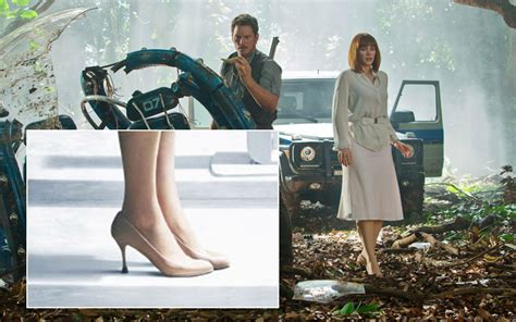 jurassic world actress shoes jurassic world fighting dinosaurs in heels sounds like