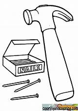 Coloring Hammer Nails Drawing Nail Printable Template Colorier Colouring Clipart Getdrawings Templates Halaman ペムøµù Mewarnai øª øªù sketch template