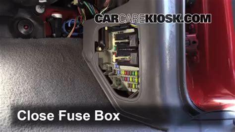 interior fuse box location   mazda