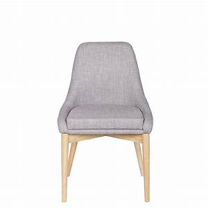 Chaise Tissu Design : chaise design tissu et bois avec coussin kobe by drawer ~ Maxctalentgroup.com Avis de Voitures