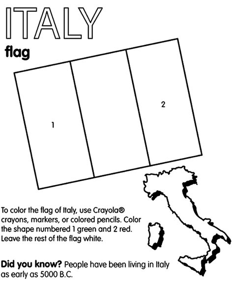 italy flag coloring page italy coloring
