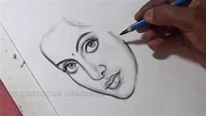 How To Draw Pencil Portrait Of A Women Drawing