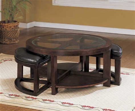 Round Coffee Table Round Coffee Table With Seats Underneath Roy Home Design