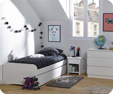 chambres enfants chambre enfant twist blanche set de 3 meubles