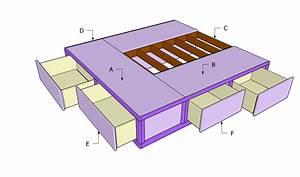 Queen Size Bed Frame Plans BED PLANS DIY & BLUEPRINTS