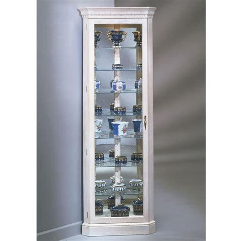 corner display with glass doors the northern hardwood jefferson corner curio